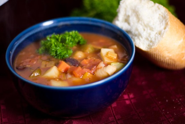 Photo de la soupe minestrone